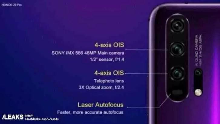 Especificações da câmara do Honor 20 Pro reveladas em detalhe, e mais 2