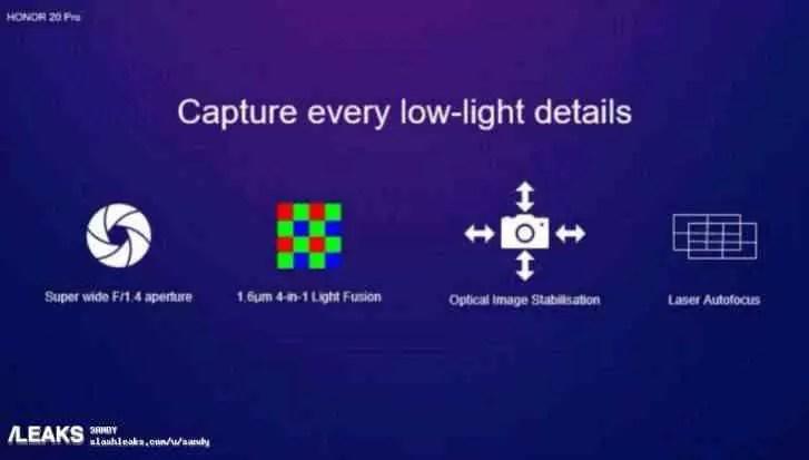 Especificações da câmara do Honor 20 Pro reveladas em detalhe, e mais 3