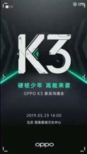 Oppo K3 chega a 23 de maio com SoC Snapdragon 710 1