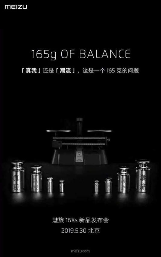 Meizu 16Xs 30 de maio Data de lançamento