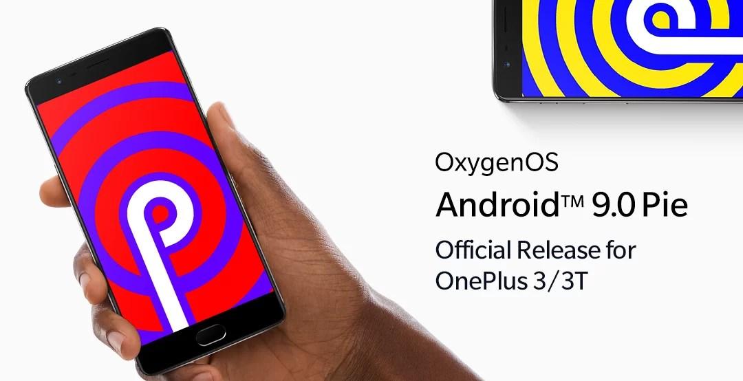 Atualização de Android Pie OnePlus 3 e OnePlus 3T