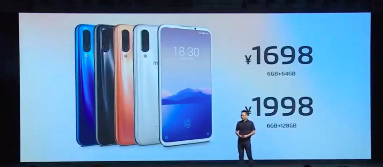 Preço Meizu 16XS