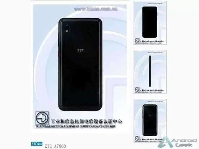 Alegado ZTE Blade A7 passou na TENAA, a 17 de maio 1