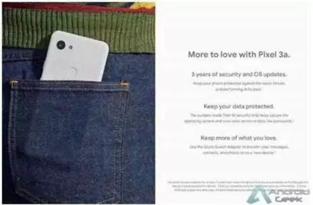 Materiais de marketing do Pixel 3a e do Pixel 3a XL revelam mais detalhes 3