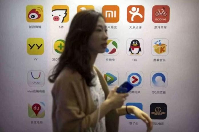 serviços de Apple china