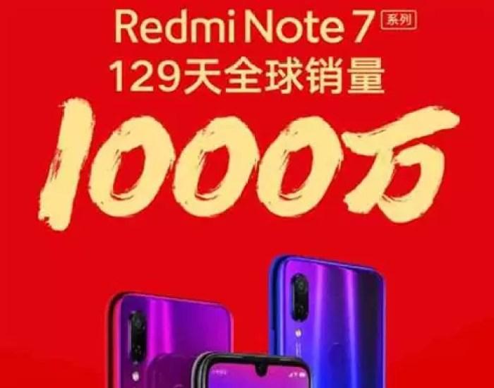 Vendas Redmi Note 7