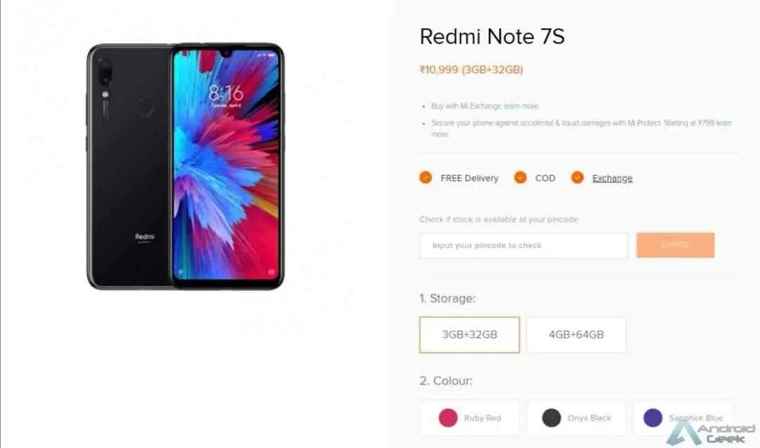 Redmi Note 7S é oficial com câmara de 48MP e Snapdragon 660 2