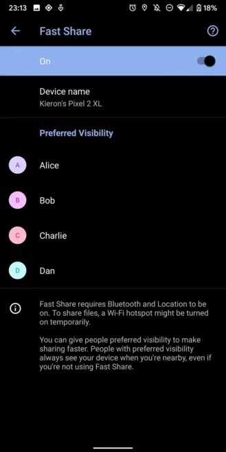 Android Beam pode ser substituído pelo Fast Sharing ao estilo AirDrop. 4