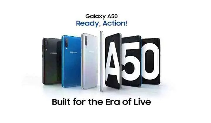 Galaxy A50 em destaque
