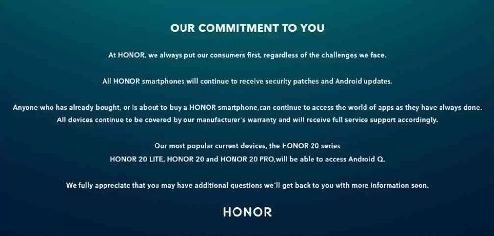 Honor 20 recebe Android Q
