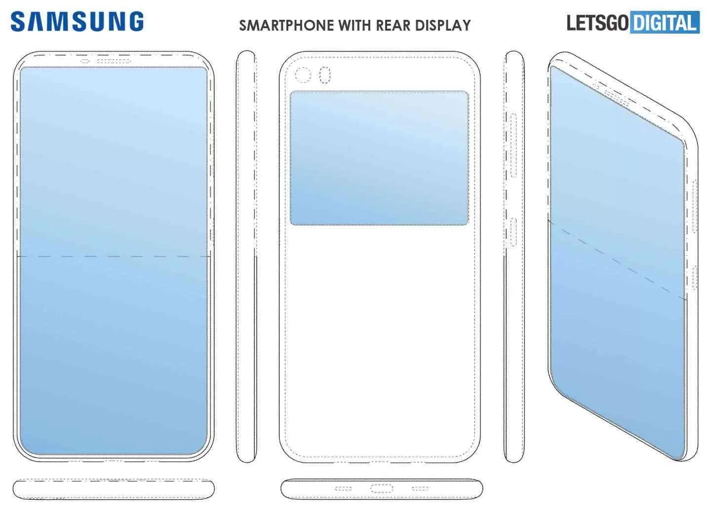 Patente para smartphone Samsung Dual Display