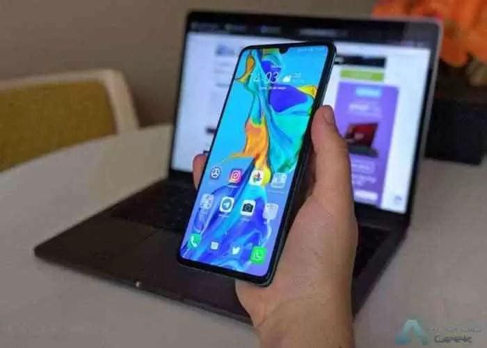 Huawei P30, ecrã