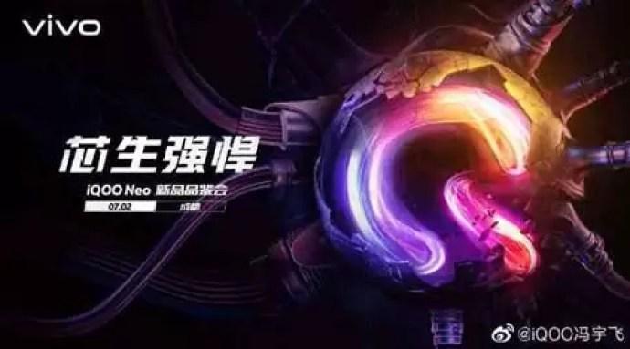 Data de lançamento do iQOO Neo