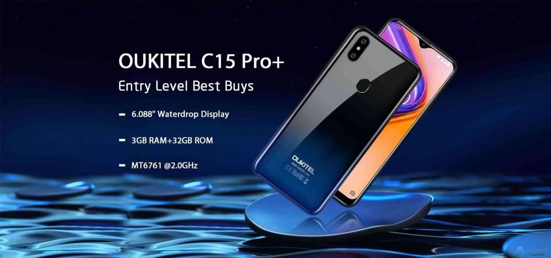 OUKITEL C15 Pro + com 3GB de RAM e 32GB ROM em breve por cerca de 66€!! 2