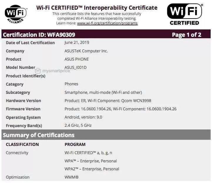 Misterioso ASUS_I001D obteve certificação NCC e Wi-Fi Alliance 1