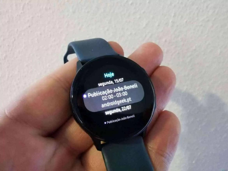 Análise Samsung Galaxy Watch Active o melhor Fitness Watch até á data 9