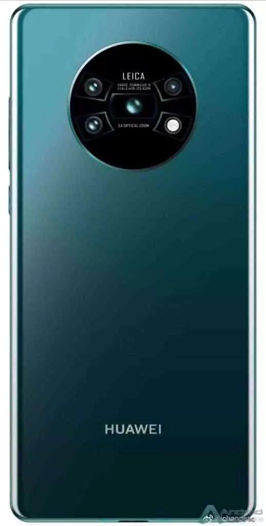Huawei Mate 30 Pro. Render não oficial