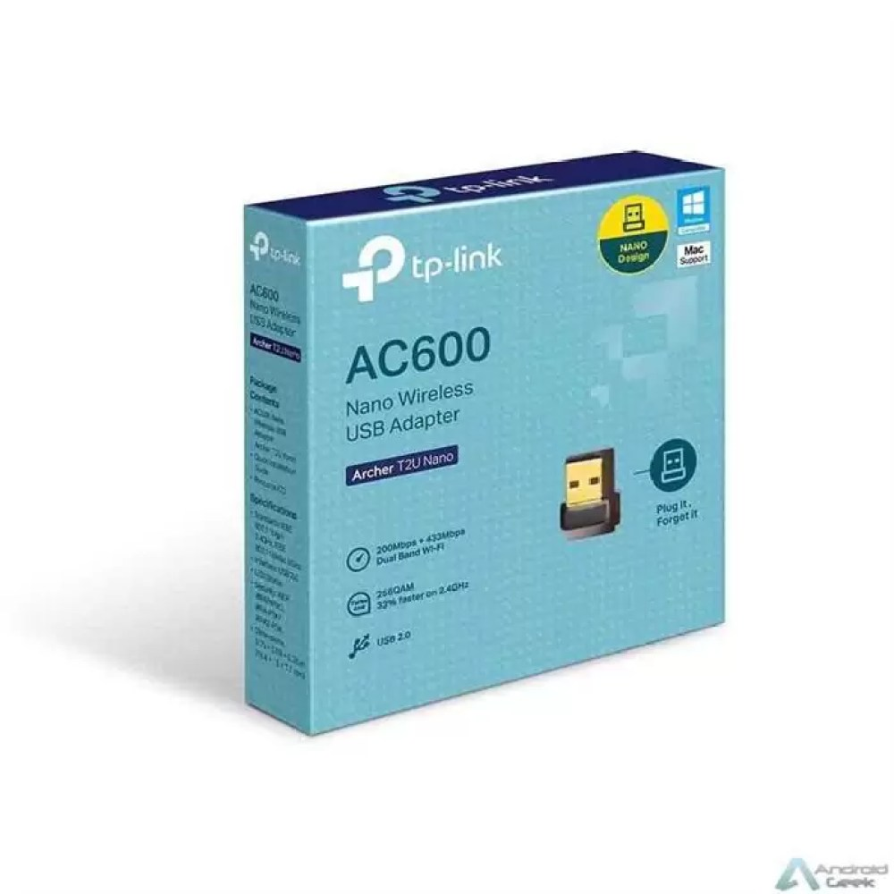 Conetividade Wi-Fi AC de 600 Mbps com o T2U Nano 2