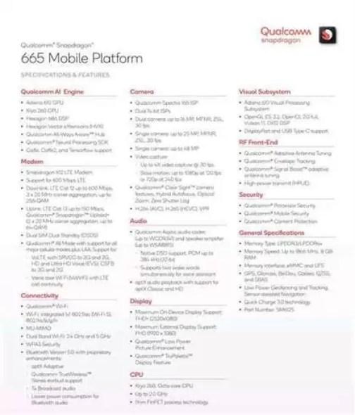 Pontuação Master Lu do Mi CC9e com Snapdragon 665, semelhante ao Snapdragon 660 1