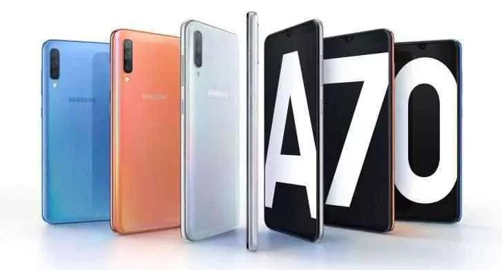 Galaxy A70 em destaque