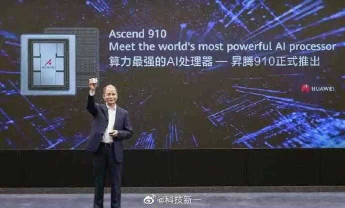 Huawei anuncia o Chipset Ascend 910 AI e o framework Mindspore AI 1