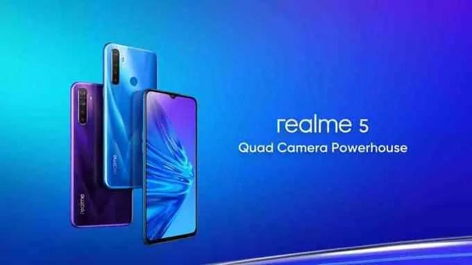 Realme 5 e Realme 5 Pro revelados na Índia; Especificações, características e preços 2