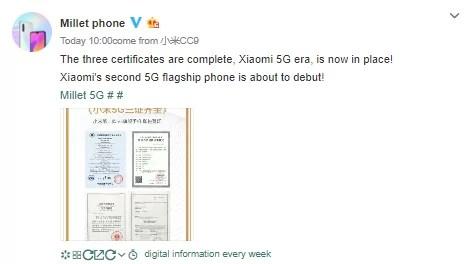 Xiaomi Mi 9s 5g em breve