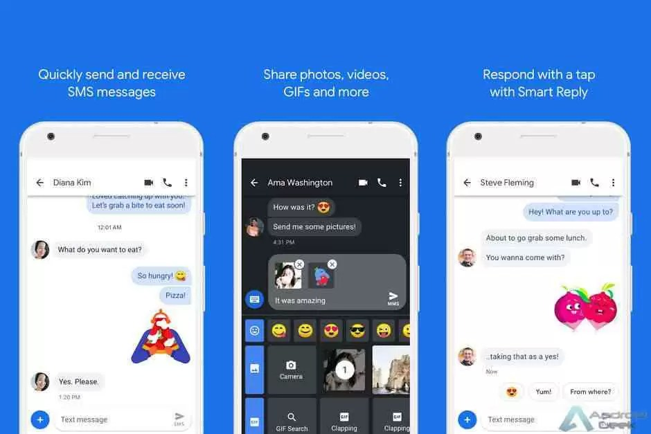 Android Messages serão a aplicação de mensagens padrão nos telefones da Samsung 1