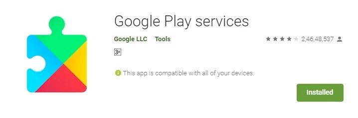 aplicativo de serviços do Google Play