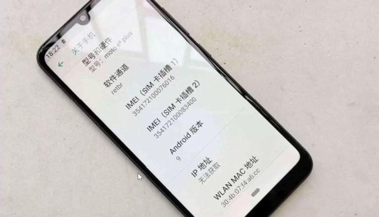 Fotos reais do Moto E6 Plus foram reveladas com entalhe em formato de gota de água, e câmaras duplas 4