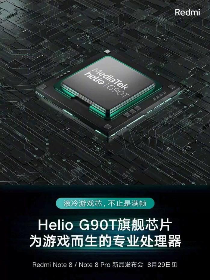 Redmi Note 8 Series Helio G90T SoC