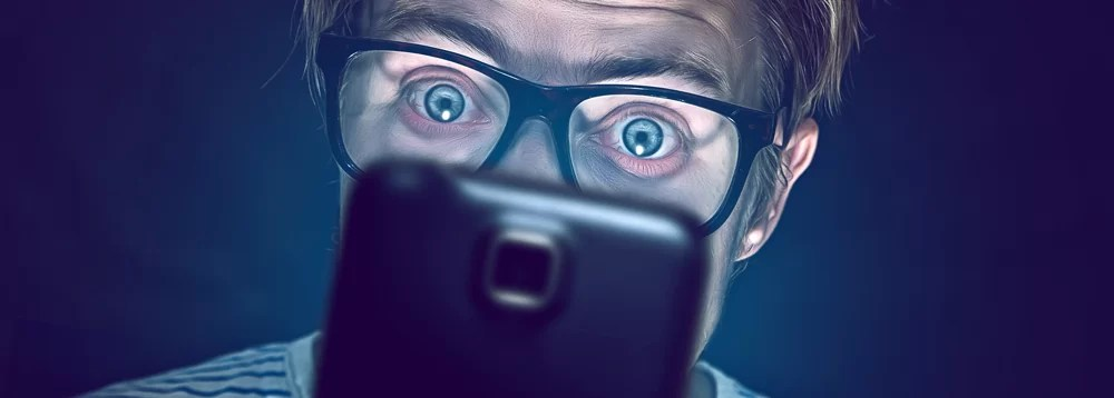 smartphones cuidados com os olhos