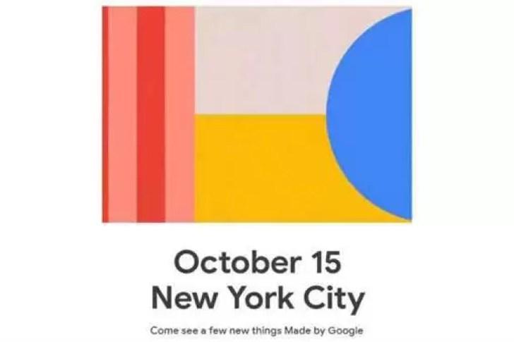 É oficial: o Google anunciará o Google Pixel 4 e 4 XL em 15 de outubro