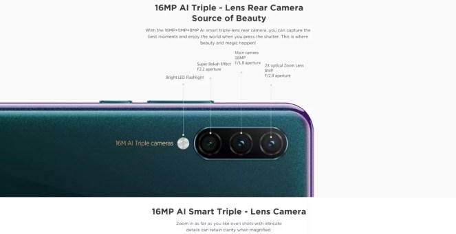 Câmeras Lenovo K10 Note