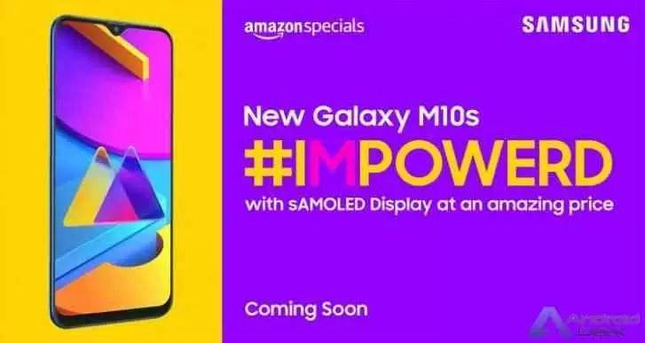 Vazamento de especificações do Samsung Galaxy M10s - tela HD + de 6,4 polegadas e bateria de 4.000mAh