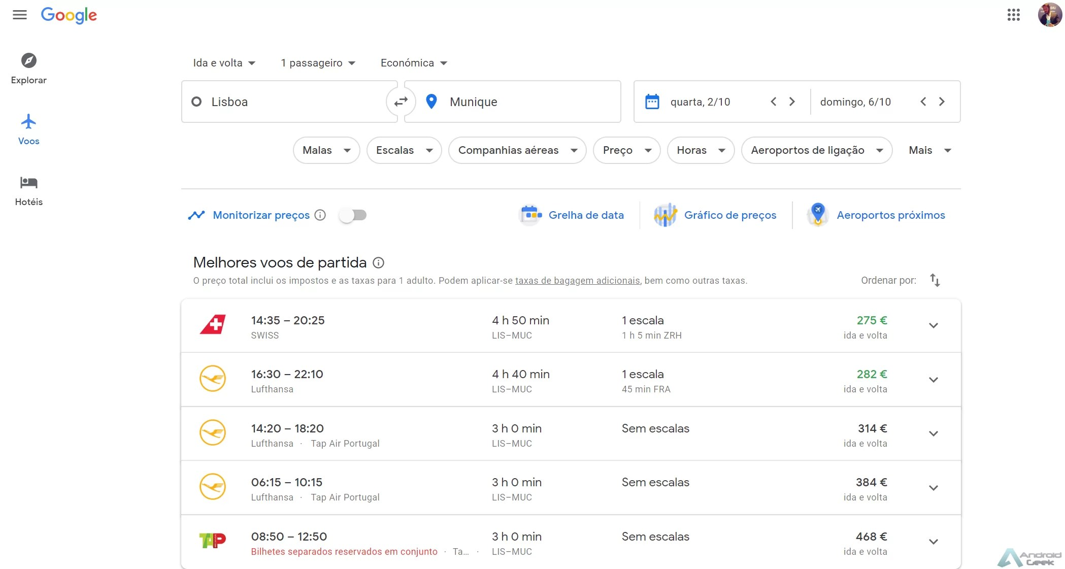 Google Flights. O que é, para que serve e como é usado 2