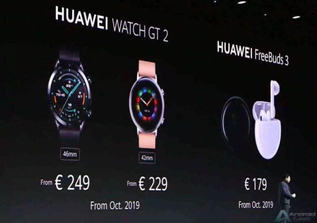 Huawei anuncia um novo e elegante Huawei Watch GT 2, e FreeBuds 3 5