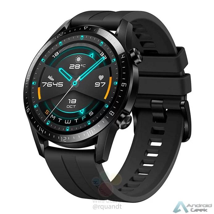 Huawei Watch GT 2 revelado com molduras menores e bateria maior 2