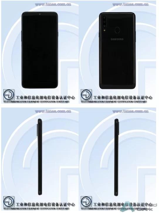 Imagens e especificações do Samsung galaxy A20S TENAA cortesia da SlashLeaks 1