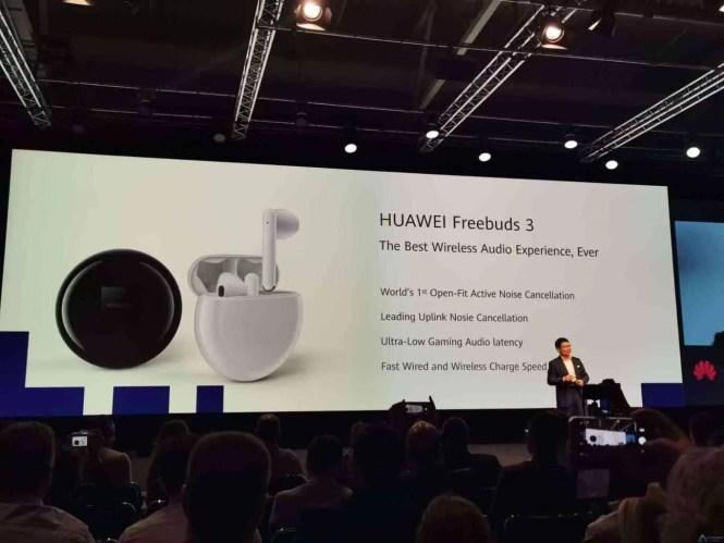 Huawei apresenta fones de ouvido Freebuds 3, com cancelamento activo de ruído 2