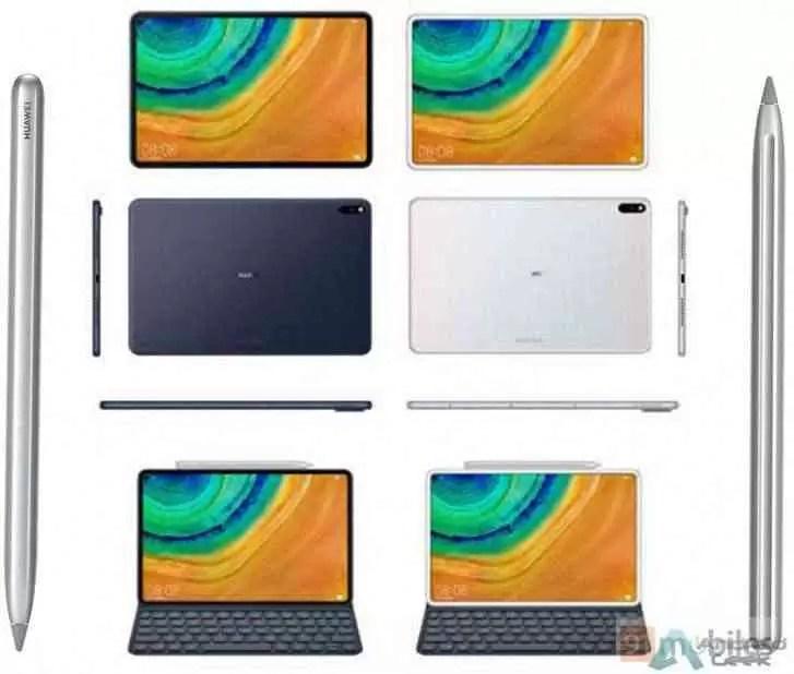 As renderizações do Huawei MediaPad M7 mostram um tablet de metal com molduras mais finas e caneta e teclado opcionais.