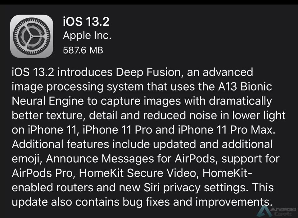 iOS 13.2 já está disponível com Deep Fusion, novos Emojis e muito mais 2