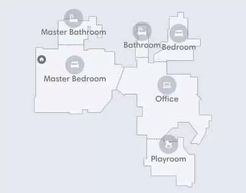 Mapeamento inteligente do aplicativo iRobot Roomba