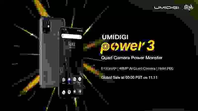 Maior bateria de sempre num UMIDIGI! UMIDIGI Power 3 com bateria de 6150mAh, câmara quad de 48MP, ecrã perfurado e Android 10. 7