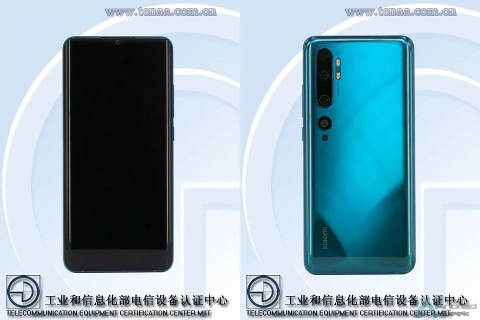 Xiaomi Mi CC9 Pro com câmara de 108MP, bateria de 5170mAh aparece na TENAA 1