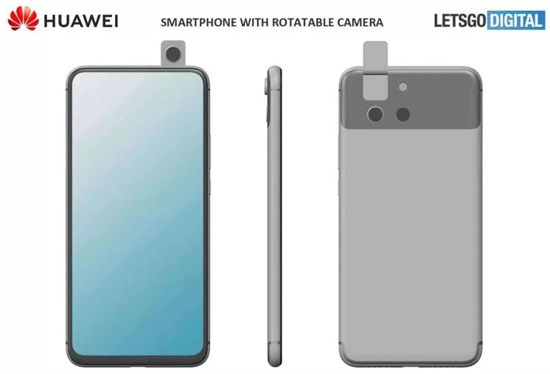 Já viram esta patente de smartphone com câmara rotativa da Huawei? Pode ser mesmo P Smart Z 2020 2