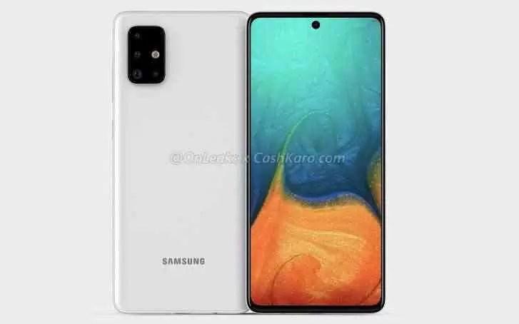 Alegada Samsung Galaxy A71 render
