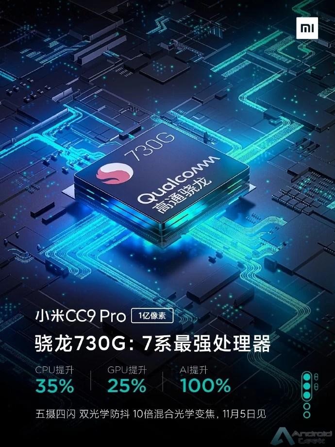 Xiaomi CC9 Pro será equipado com o Snapdragon 730G, confirmado pela Xiaomi 1
