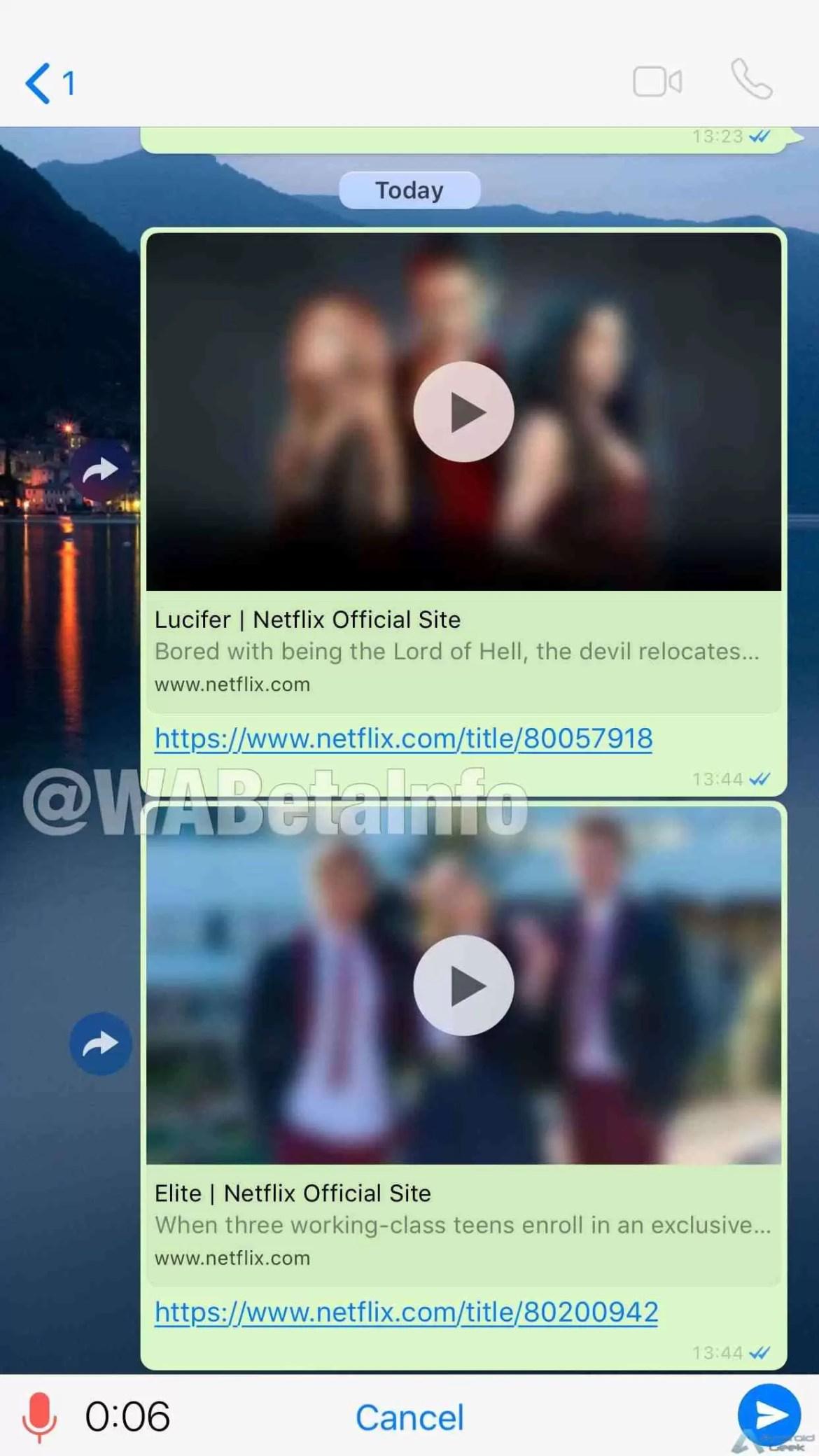 O WhatsApp já permite ver vídeos da Netflix diretamente na aplicação 3