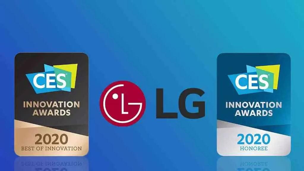 LG distinguida com Prémios Inovação CES 2020 1